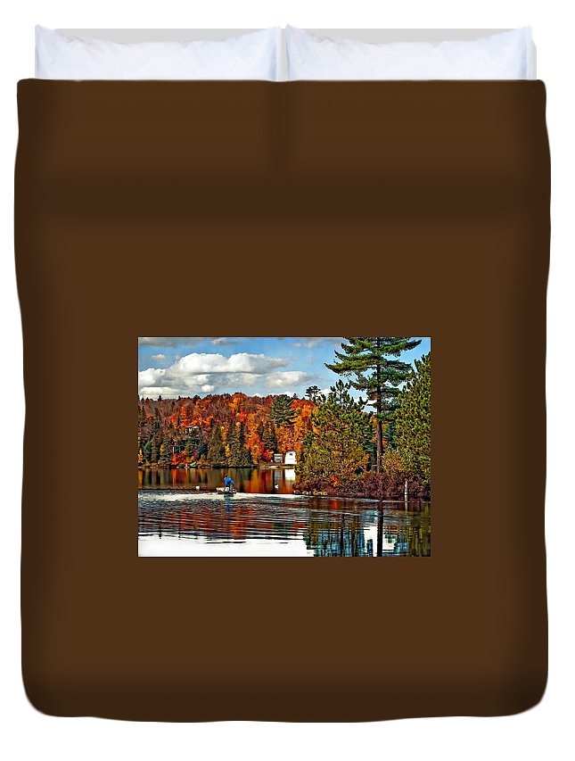 Wilderness Duvet Cover featuring the photograph Land Of Lakes by Steve Harrington