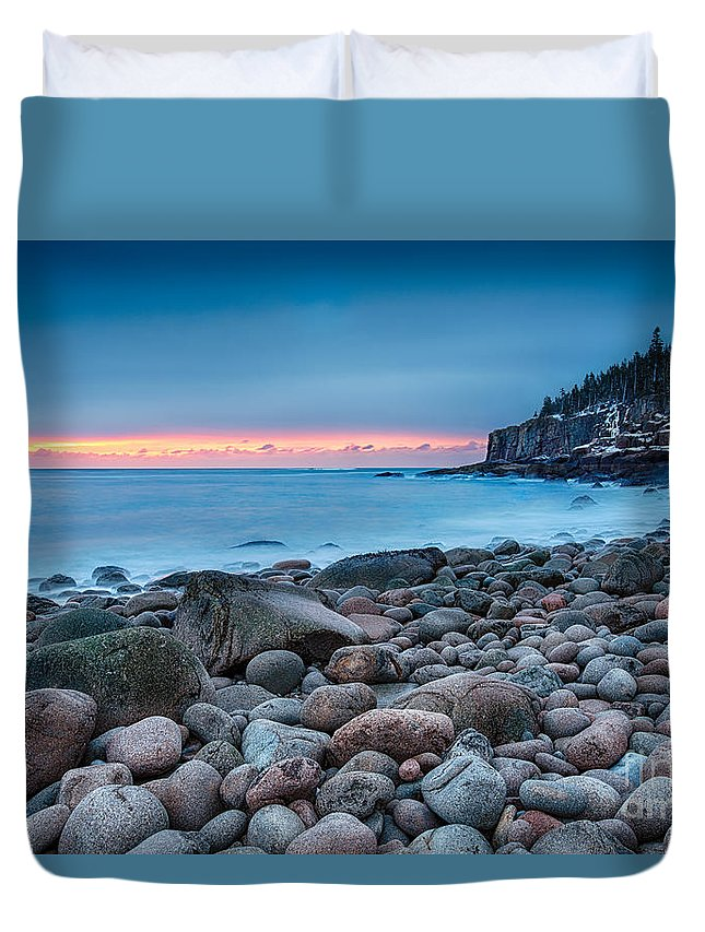 Acadia Duvet Cover featuring the photograph Land Of Sunrise by Evelina Kremsdorf