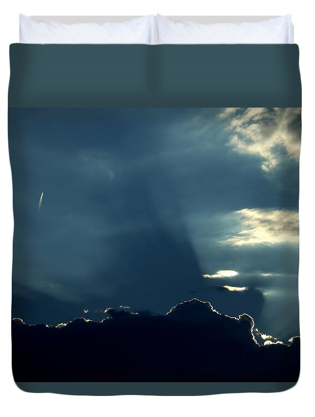 Landing strip lights duvet cover for sale by ed smith landing strip lights duvet cover featuring the photograph landing strip lights by ed smith mozeypictures Gallery