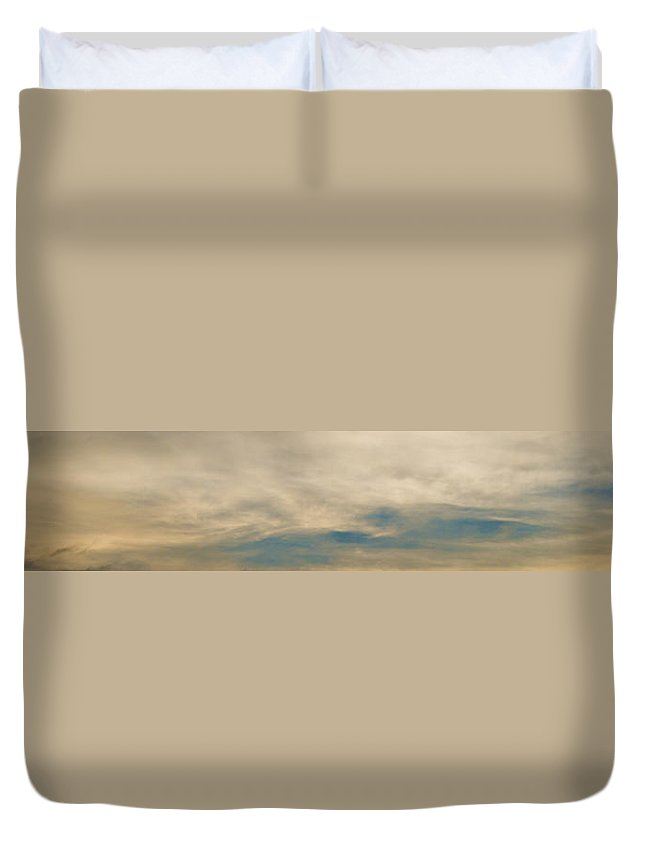 Sky Duvet Cover featuring the photograph Landscape 1 Of 3 by Agustin Uzarraga