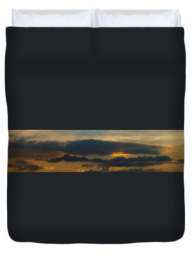 Sky Duvet Cover featuring the photograph Landscape 2 Of 3 by Agustin Uzarraga