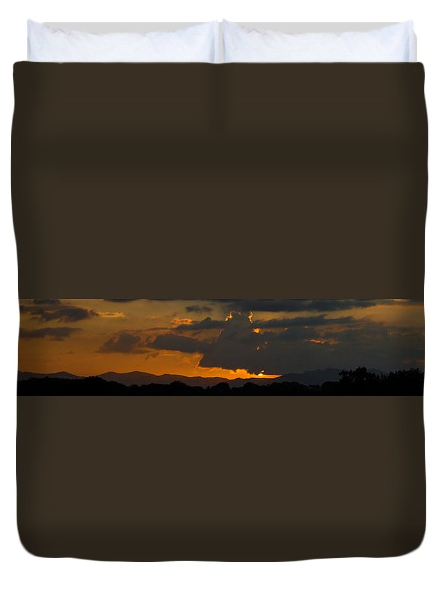 Sky Duvet Cover featuring the photograph Landscape 3 Of 3 by Agustin Uzarraga