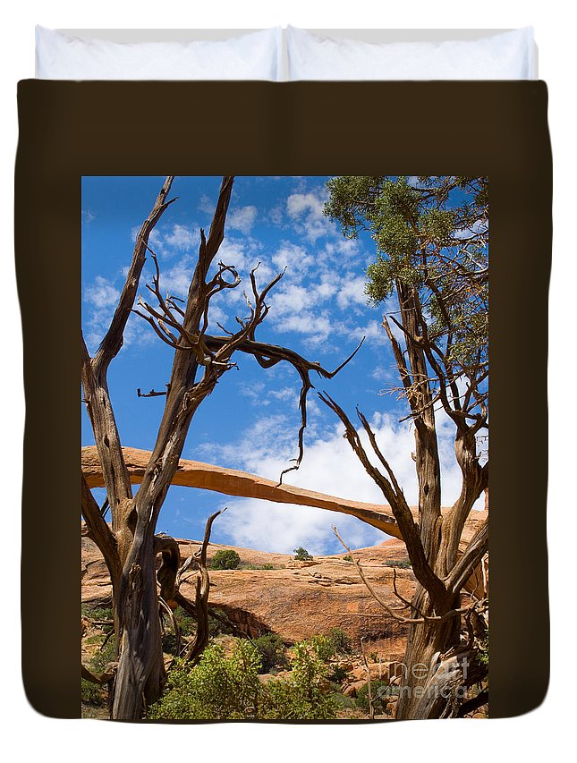 Landscape Arch Duvet Cover featuring the photograph Landscape Arch - Arches National Park by Lee Roth