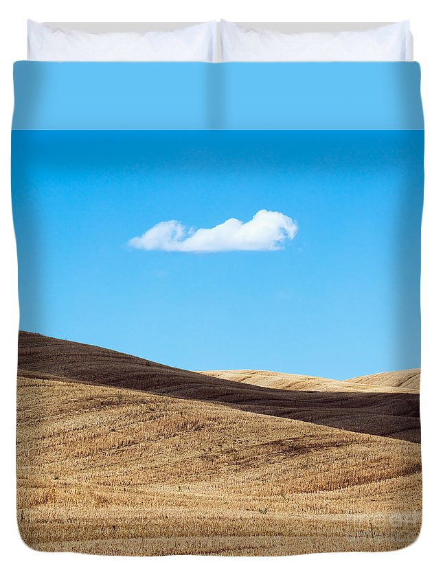 Idyllic Duvet Cover featuring the photograph Landscape In Summer Tuscany Italy by Matteo Colombo