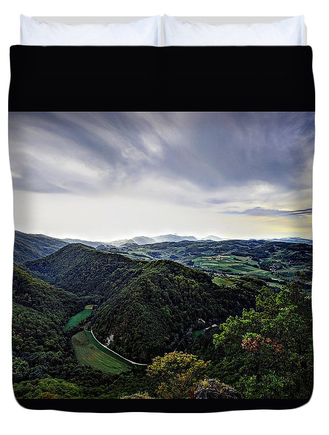Agriculture Duvet Cover featuring the photograph Landscape by Ivan Slosar