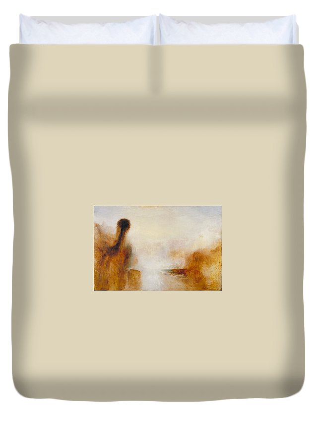 1840 Duvet Cover featuring the painting Landscape With Water by JMW Turner