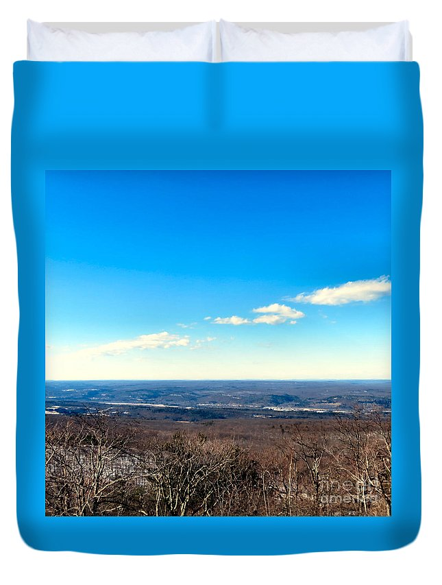 High Duvet Cover featuring the photograph Landscaping Eternity by Art Dingo