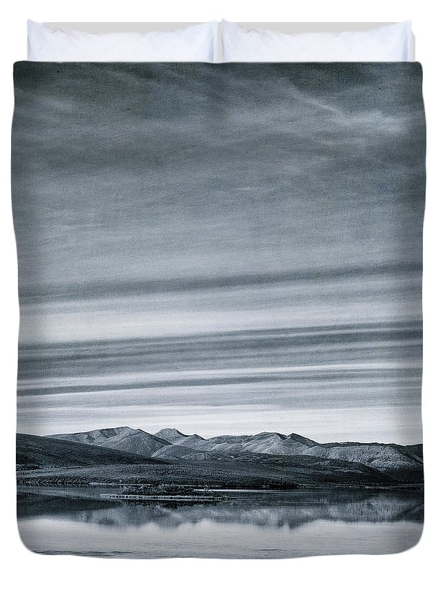 Mountain Duvet Cover featuring the photograph Land Shapes 27 by Priska Wettstein