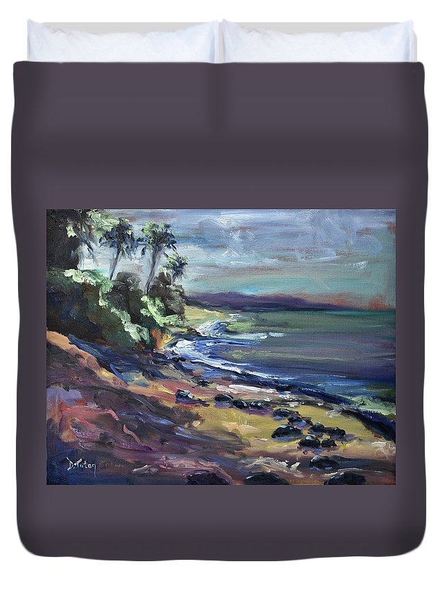 Laniakea Duvet Cover featuring the painting Laniakea by Donna Tuten