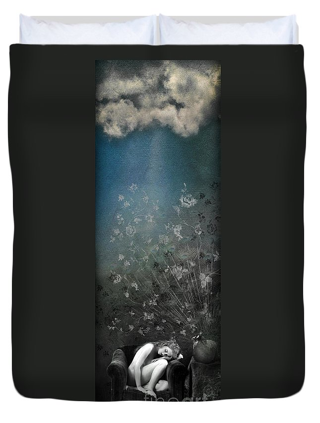 Aimee Stewart Duvet Cover featuring the digital art Lareverie by MGL Meiklejohn Graphics Licensing