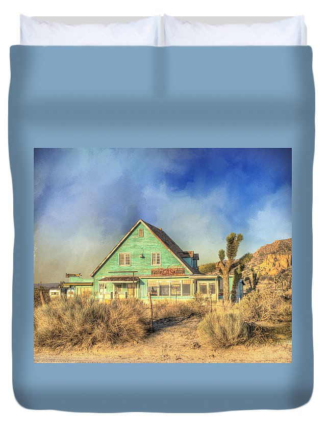 Building Exterior Duvet Cover featuring the photograph Last Chance by Juli Scalzi