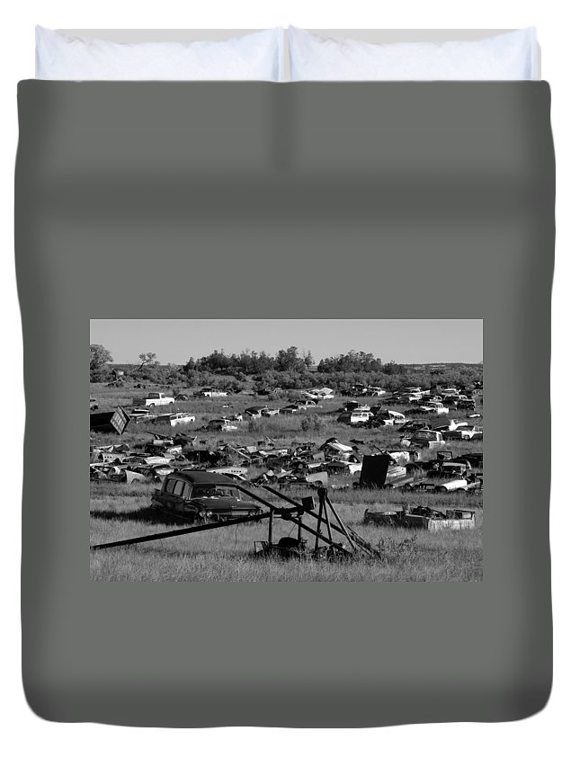 Fine Art Photography Duvet Cover featuring the photograph Last Ride by David Lee Thompson