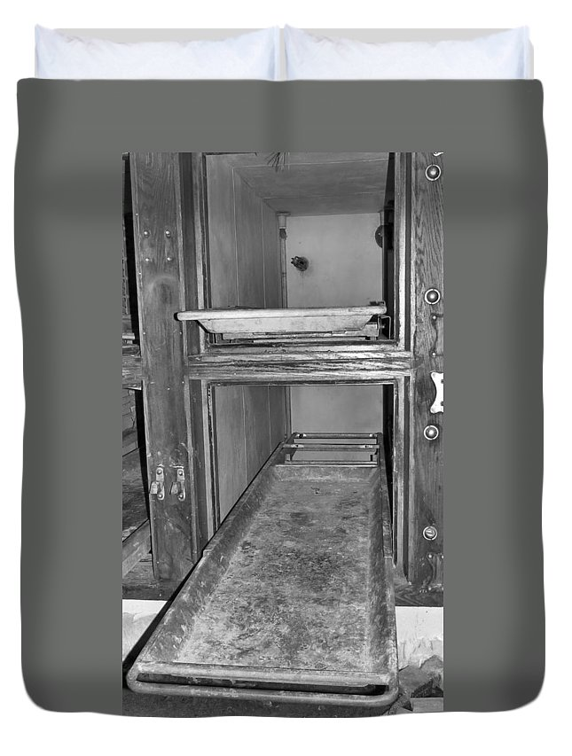 Lechworth Duvet Cover featuring the photograph Last Slab by Art Dingo