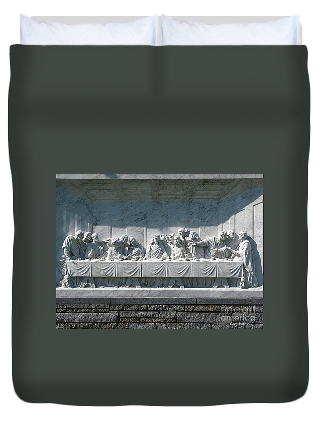 Art For The Wall...patzer Photography Duvet Cover featuring the photograph Last Supper by Greg Patzer