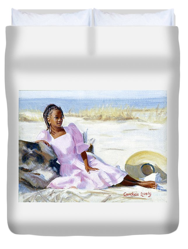 Impressionist Duvet Cover featuring the painting Latesha by Candace Lovely