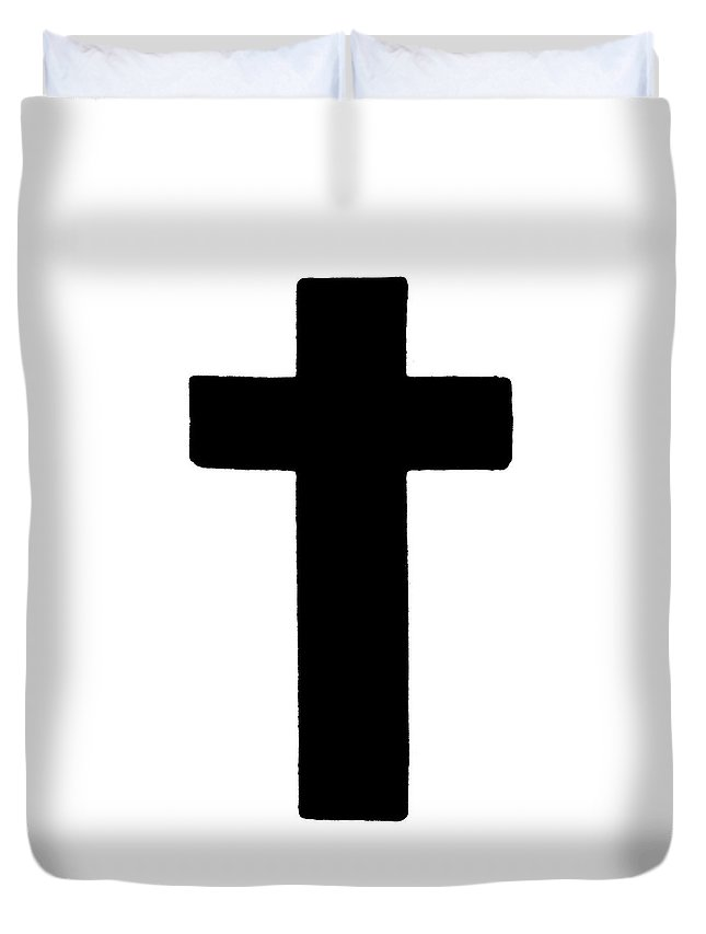 Christianity Duvet Cover featuring the painting Latin Cross by Granger
