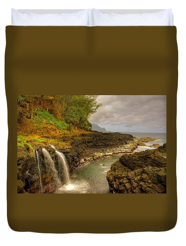 Lava Duvet Cover featuring the photograph Lava Inlet by John Greaves