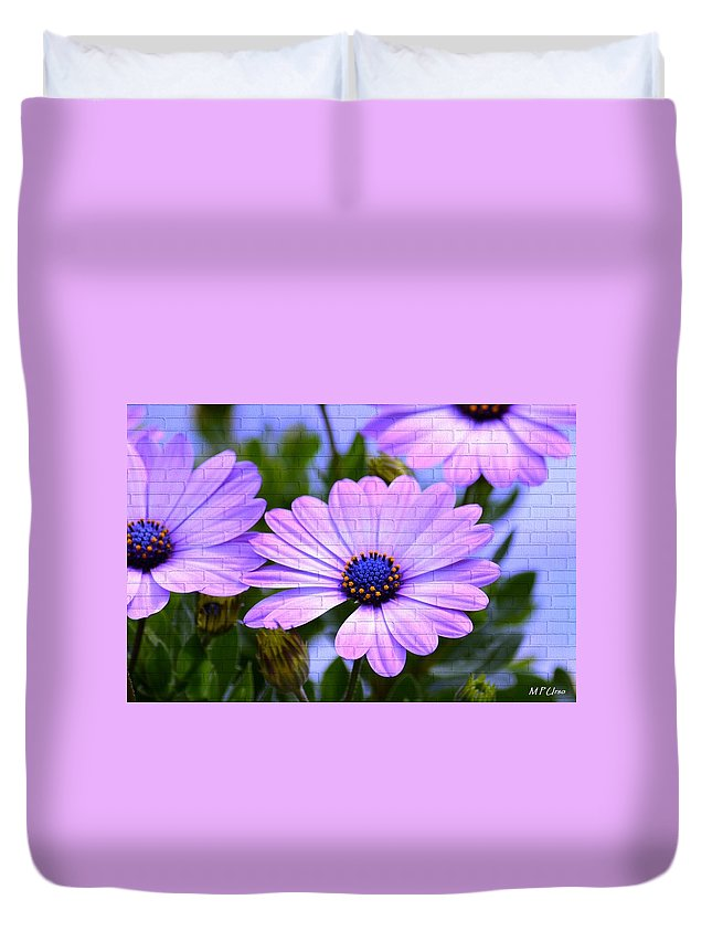 Lavender Beauties Duvet Cover featuring the digital art Lavender Beauties by Maria Urso