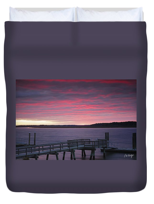 River Duvet Cover featuring the photograph Lavender Hues by Phill Doherty