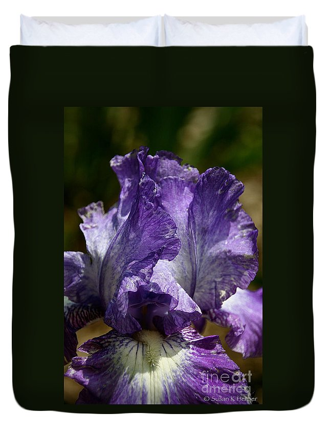 Flower Duvet Cover featuring the photograph Lavender Lust by Susan Herber