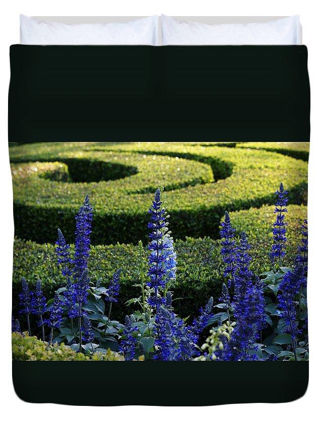 Purple Duvet Cover featuring the photograph Lavender Maze by Tim Wintjen