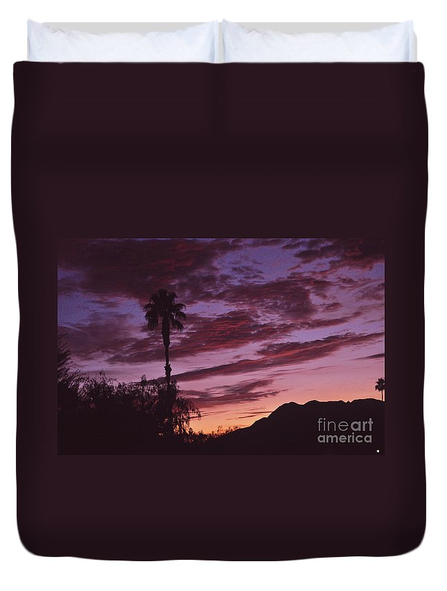 Lavender Duvet Cover featuring the photograph Lavender Red And Gold Sunrise by Jay Milo