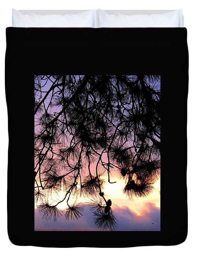 Lavender Sunset Painting Duvet Cover featuring the photograph Lavender Sunset Painting by Will Borden