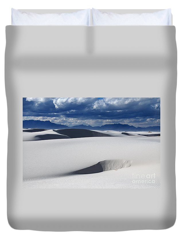 White Sands Duvet Cover featuring the photograph Layers And Layers by Vivian Christopher