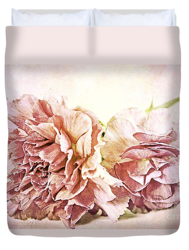 Flower Duvet Cover featuring the photograph Layers Of Love by A New Focus Photography