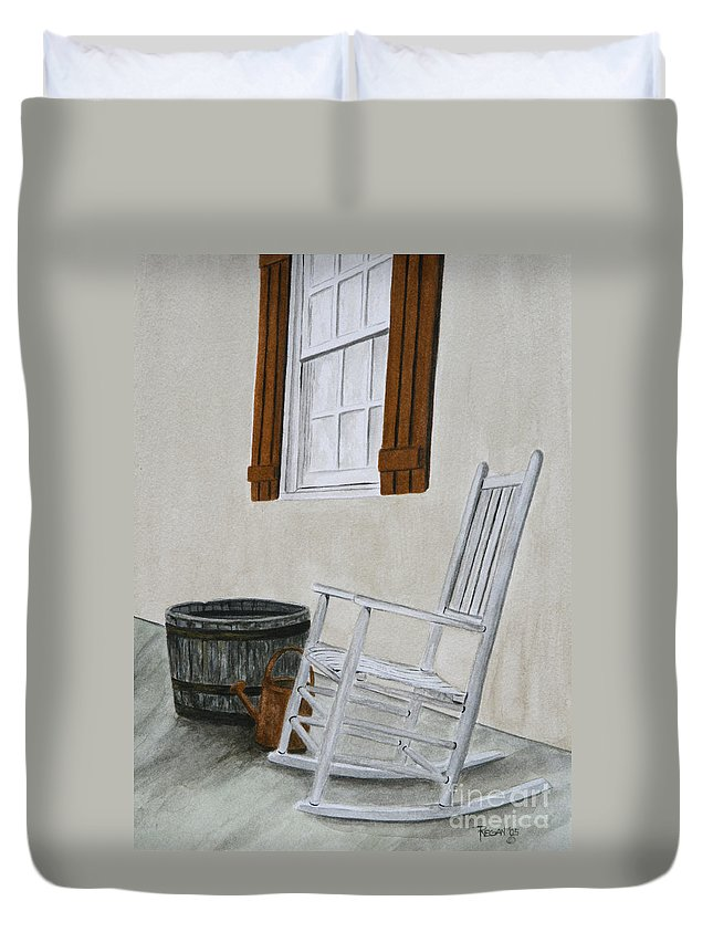 Americana Duvet Cover featuring the painting Lazy Day by Regan J Smith