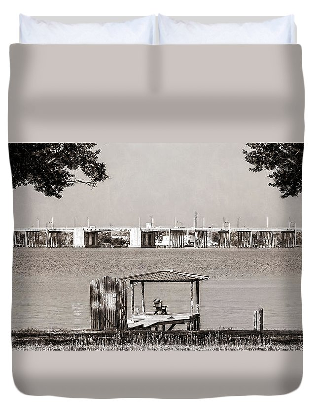 Lazy Days Duvet Cover featuring the photograph Lazy Days by Sennie Pierson