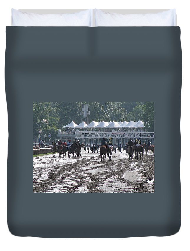 New York Duvet Cover featuring the photograph Lazy Saratoga Afternoon by Jeff Watts