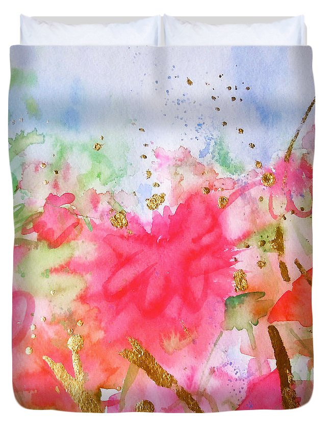 Garden Duvet Cover featuring the painting Le Jardin by Roleen Senic
