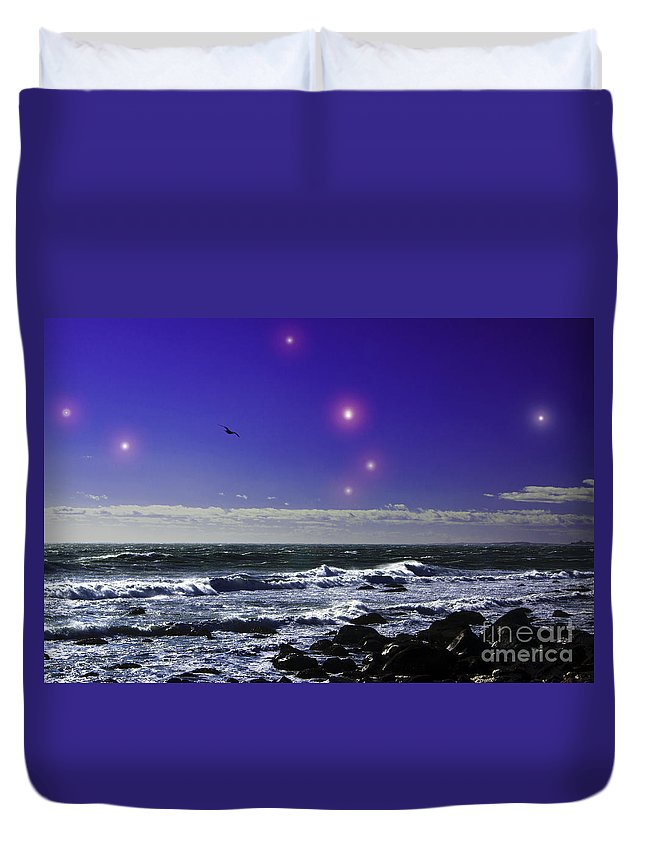 Astrology Duvet Cover featuring the photograph Leading Aries by Joe Geraci