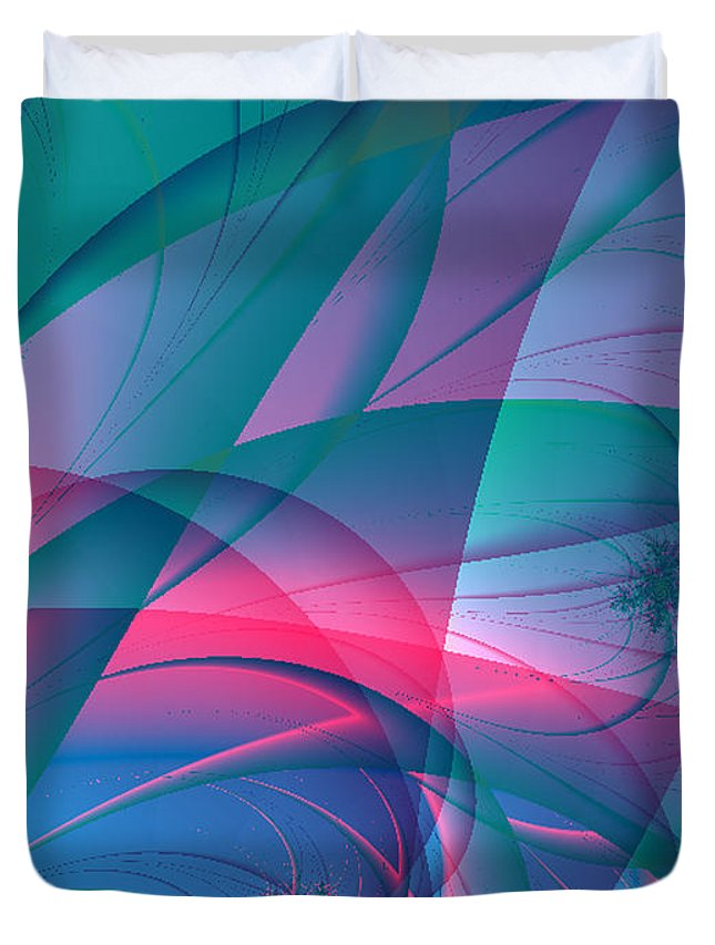 2-dimensional Duvet Cover featuring the digital art Lean On Me by Dana Haynes