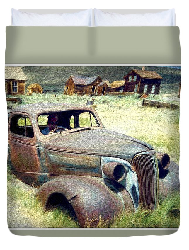 Photography Duvet Cover featuring the digital art Leaving Bodie by Snake Jagger