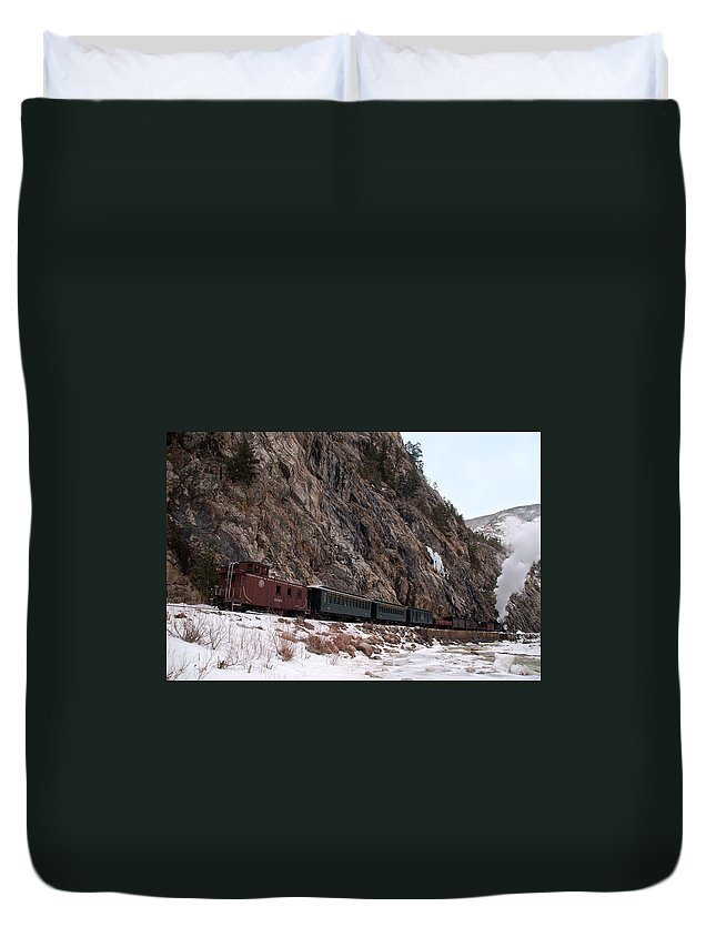 Steam Train Duvet Cover featuring the photograph Leaving Cascade Canyon by Ken Smith