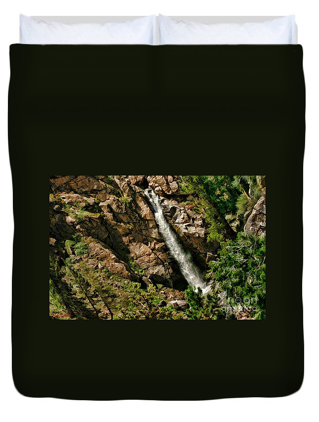 Leavitt Falls Duvet Cover featuring the photograph Leavitt Falls by Blake Richards
