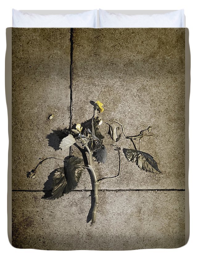 Dead Duvet Cover featuring the photograph Left For Dead by Margie Hurwich