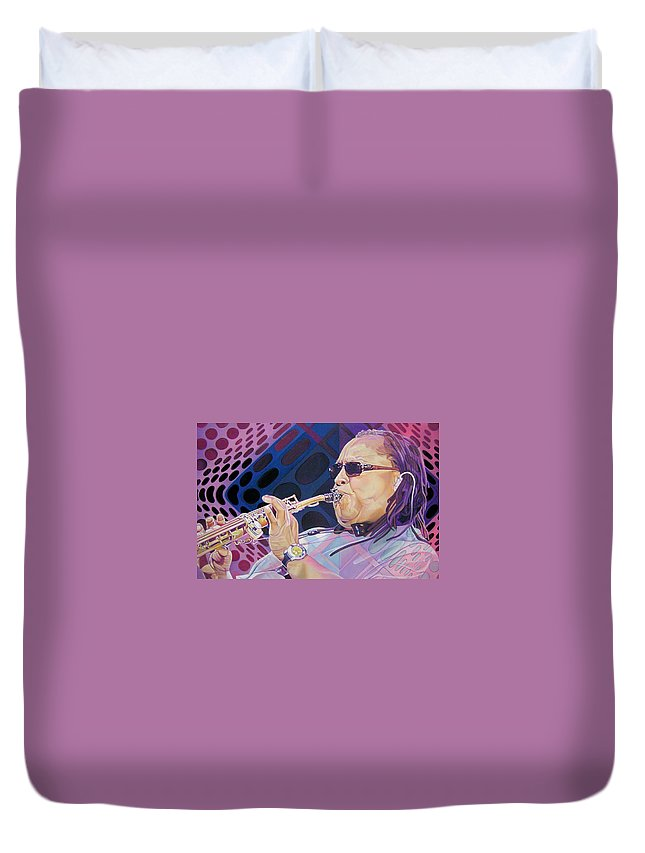 Leroi Moore Duvet Cover featuring the drawing Leroi Moore by Joshua Morton