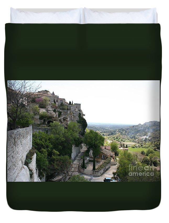 Village Duvet Cover featuring the photograph Les Baux De Provence by Christiane Schulze Art And Photography