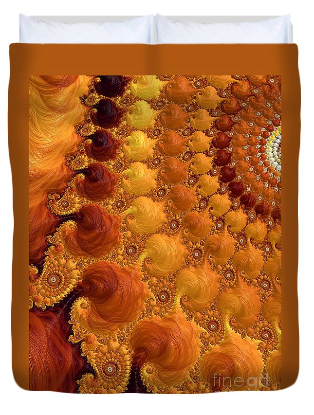 Yellow Duvet Cover featuring the digital art Let The Sun Shine by Heidi Smith