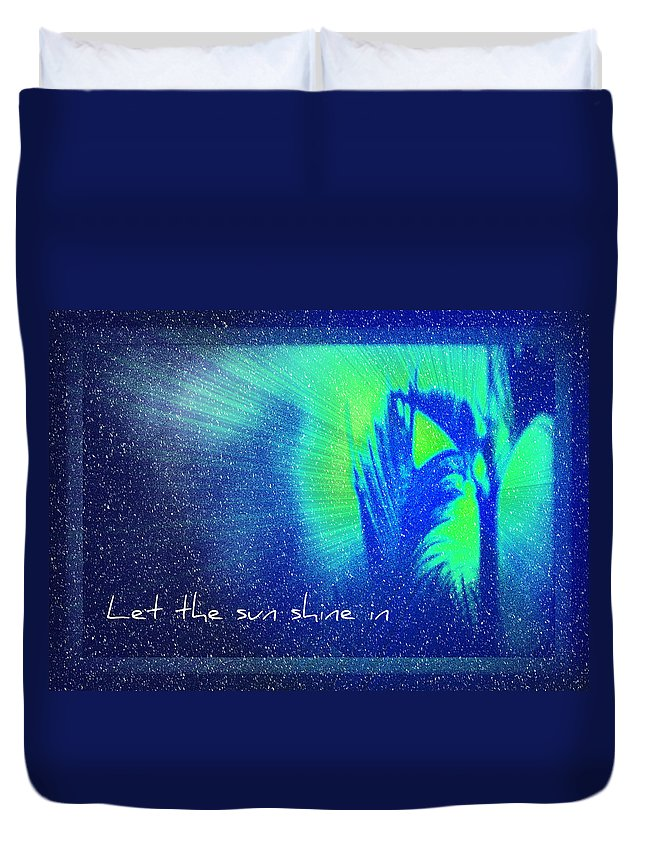 Abstract Duvet Cover featuring the photograph Let The Sun Shine In by Carolyn Marshall
