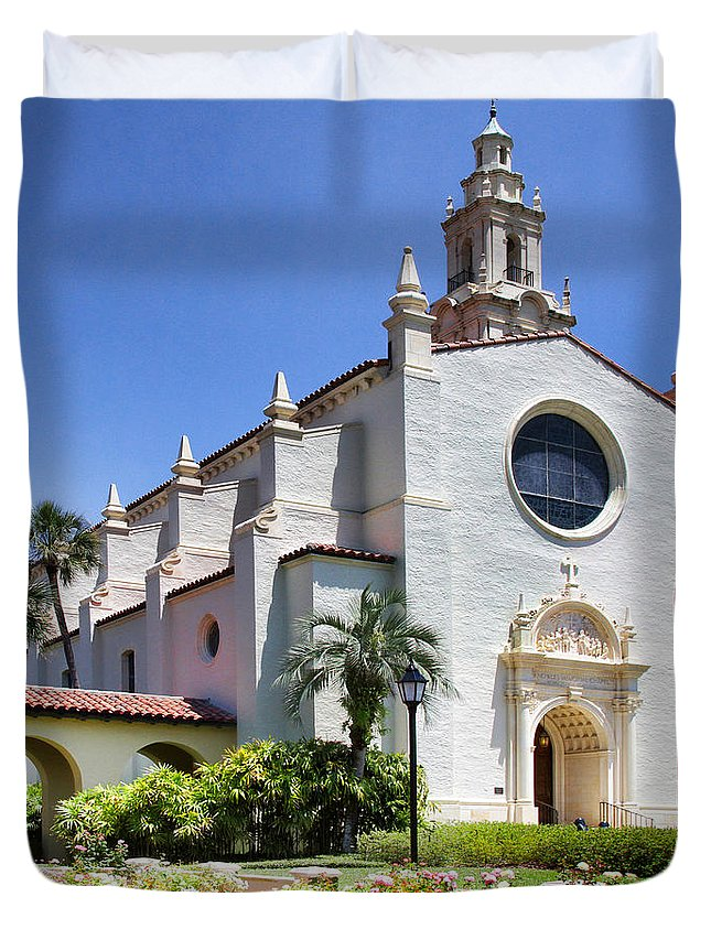 Knowles Memorial Chapel Duvet Cover featuring the photograph Let There Be Light Knowles Memorial Chapel 1 By Diana Sainz by Diana Raquel Sainz