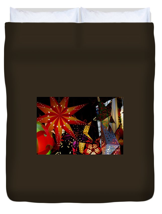 Luminaries Duvet Cover featuring the photograph Let There Be Light by Living Color Photography Lorraine Lynch