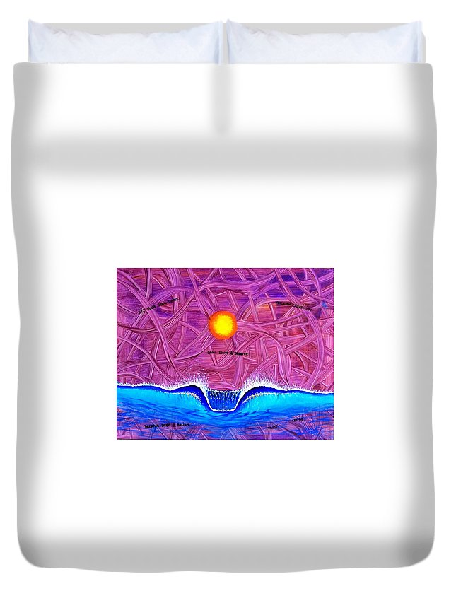 Positivepaintingsprints Duvet Cover featuring the painting Let Your Soul Shine by Paul Carter