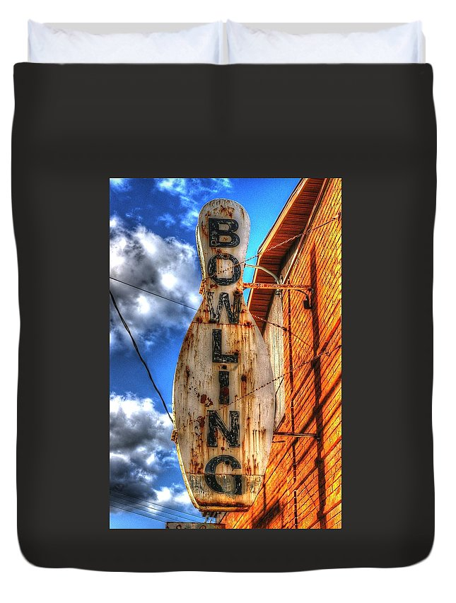 Bowling Duvet Cover featuring the photograph Bowling Pastime by Randy Pollard