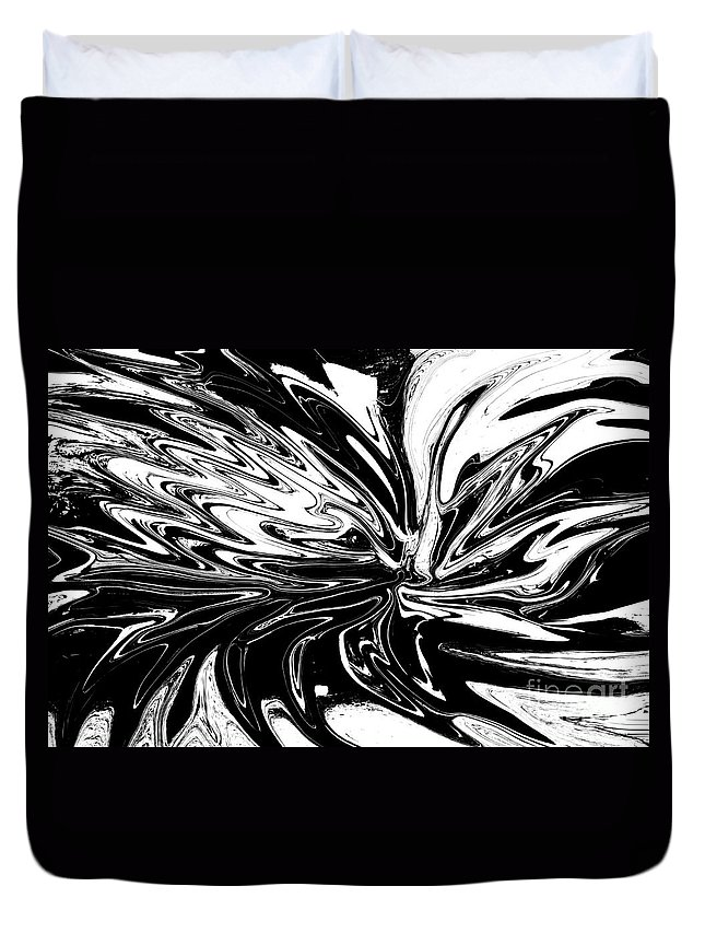 Licorice Duvet Cover featuring the digital art Licorice In Abstract by Christopher Shellhammer