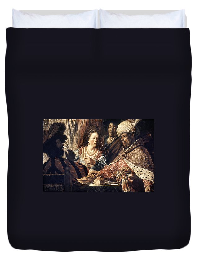 1625 Duvet Cover featuring the photograph Lievans: Feast Of Esther by Granger
