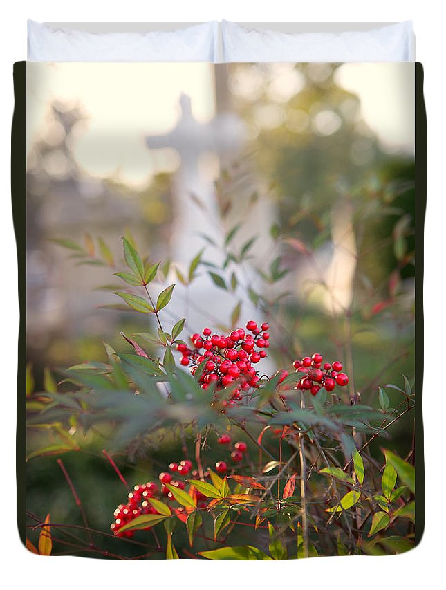Cemetery Duvet Cover featuring the photograph Life And Death by Erika Weber